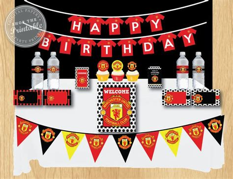 Manchester United Birthday Card Template by 13 Best Images About Justins 30th On 30th