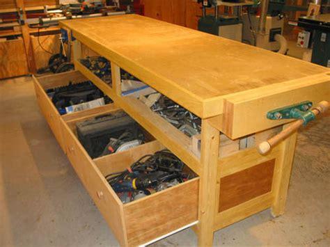 power tool bench workshop organization michael curtis dream shop