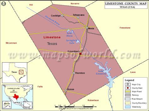 limestone county texas map limestone county map map of limestone county texas