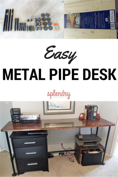 diy metal desk how to make a metal pipe desk splendry