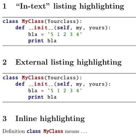 latex syntax tutorial how to highlight python syntax in latex listings
