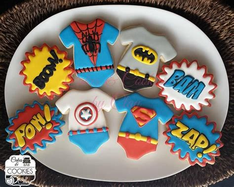 Promo Sleepsuit Superbaby Motif Batman Superman baby shower baby announcement cookies baby heroes