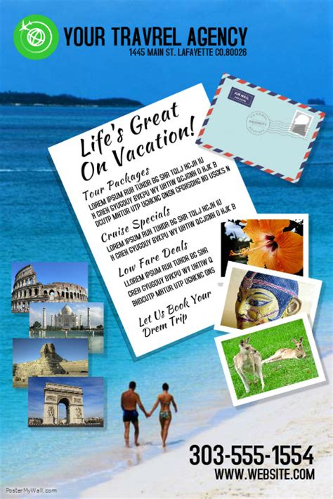 travel agency poster template postermywall poster template