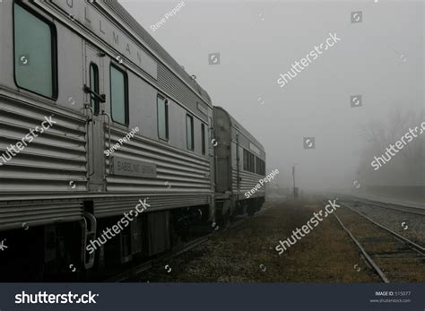 Stock Sleeper Cars by Pullman Sleeper Cars In Fog Stock Photo 515077