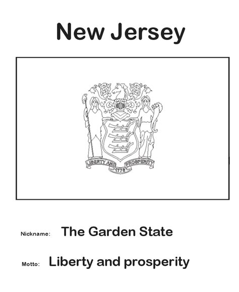 usa printables new jersey state flag state of new