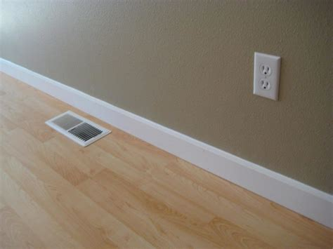 Floor Moldings by Interior Design Detail Beige Wall Clean White Baseboard