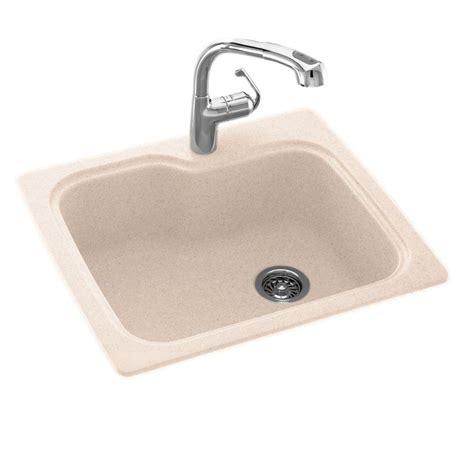 Kitchen Sink Royal Sb 50 drop in undermount composite 25 in 1 single bowl kitchen sink in tahiti sand kssb 2522sb