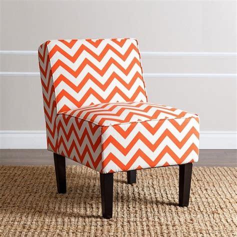 Chevron Accent Chair Abbyson Living Fiona Chevron Print Fabric Accent Chair In Orange Mw 6705 Org