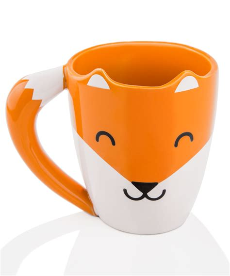 fox mug fox mug cute drinkware that looks like a smiling fox