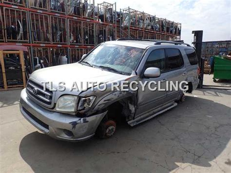2004 toyota sequoia parts 2004 toyota sequoia silver gray driver side damage
