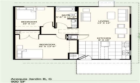 800 Square Feet Dimensions | 900 square foot house plans simple two bedroom 900 sq ft
