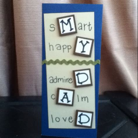 Handmade Gifts For Dads Birthday - birthday card for cards for my made by me