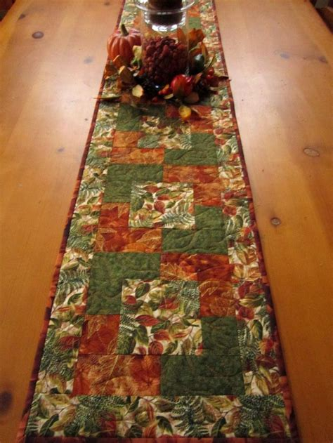 17 best ideas about fall table runner on