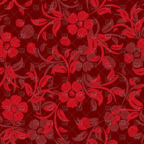 flower pattern red seamless red floral pattern royalty free vector clip art