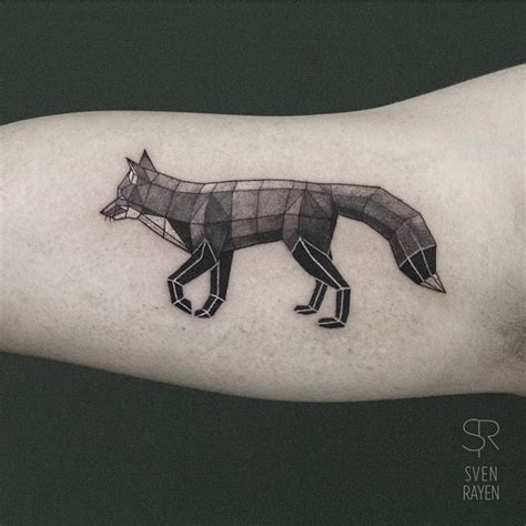 fox geometry tattoo on arm best tattoo ideas gallery