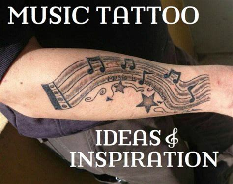 musical instruments tattoo designs pictures notes instruments bands