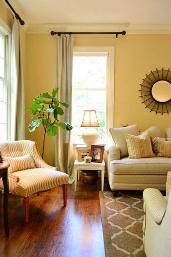 light yellow paint living room curtain rods the and house on
