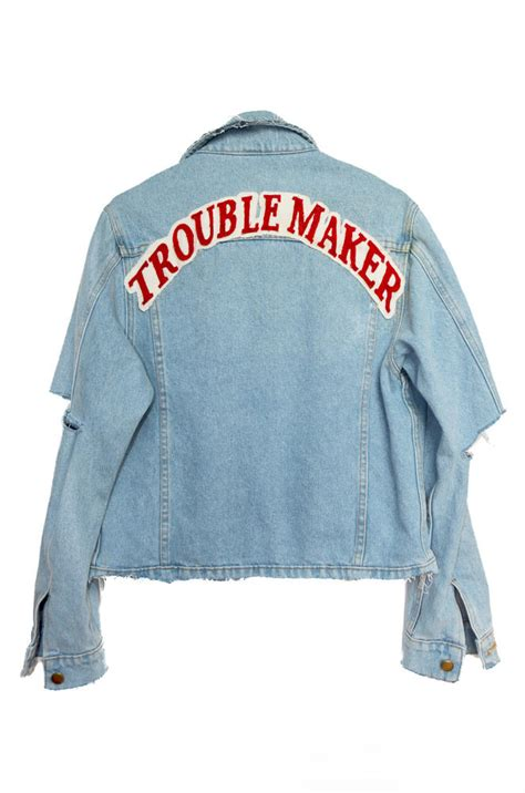trouble maker denim jacket high heels from highheelssuicide