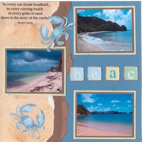 scrapbook layout beach beaches of tobago scrapbook com beach and tropical