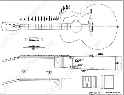 electric acoustic guitar plans pdf j 185 gibson style acoustic guitar plan cad guitar plans