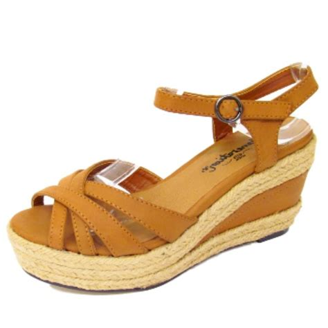 Sendal Wedges Pnc 1 denim hessian strappy wedge ankle platform sandals shoes sizes 1 5 ebay