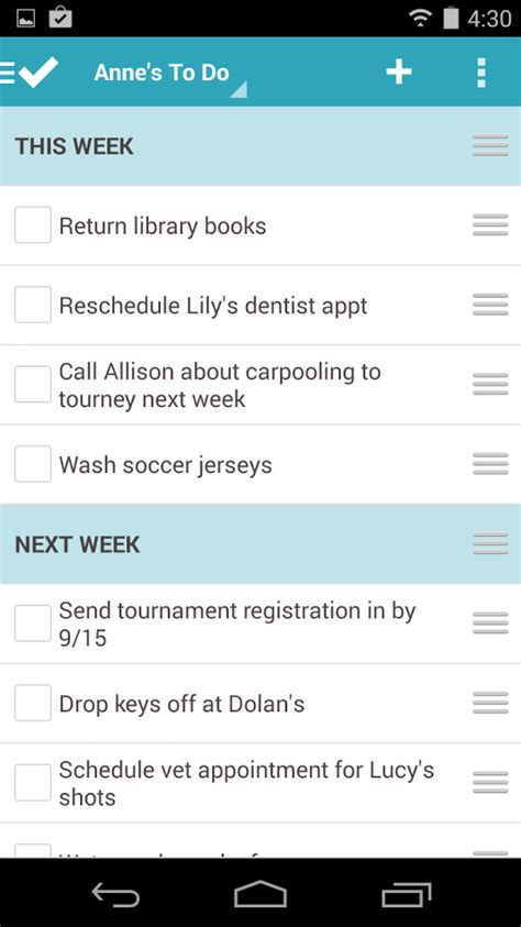 to do list app android best to do list app for android mobile free