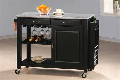 granite top kitchen island cart coaster kitchen carts kitchen cart with granite top dunk