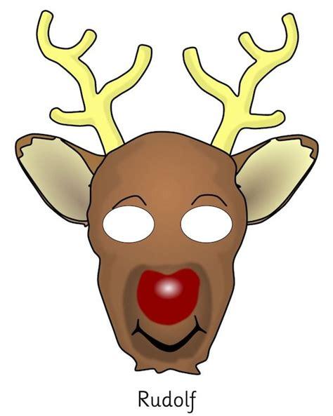 printable mask of deer 38 best christmas printables images on pinterest