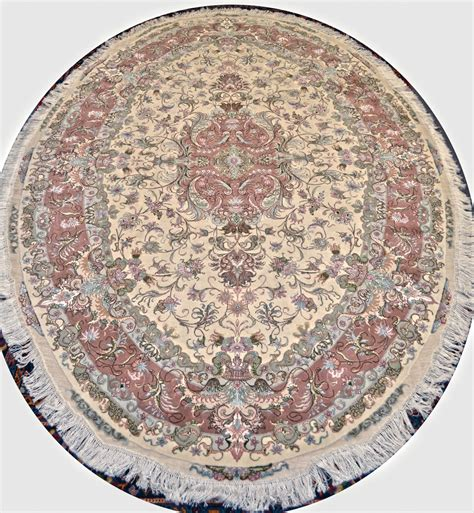 Large Oval Area Rugs Oval Shape Novinfar Wool Rug Item Ek 209