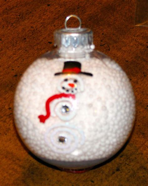 jennspeak snowman snow globe ornament