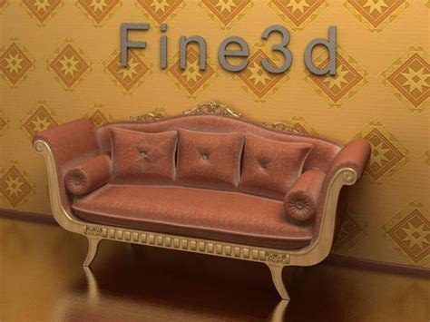 old fashioned couch old fashioned sofa 3d model max obj 3ds cgtrader com