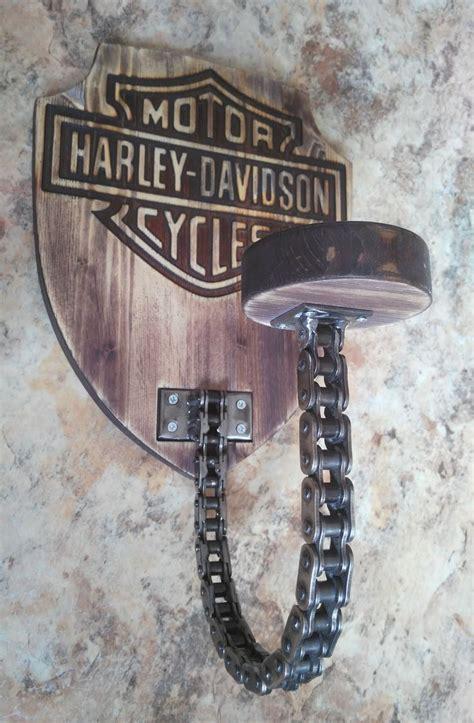 harley davidson helmhalter hergestellt aus recycelter