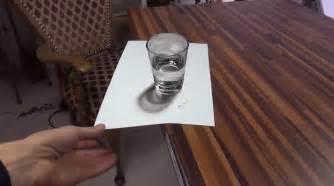 illusion d optique avec un dessin de verre d eau en 3d