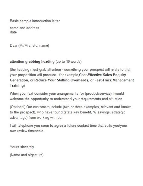 Business Introduction Letter Sle Doc Sle Business Introduction Letter 14 28 Images 9 Sales Letter Templates Free Sle Exle Format
