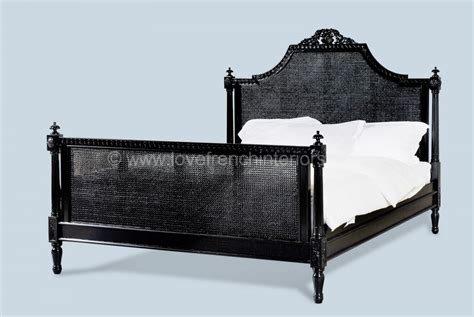 rattan bed french rattan bed in noir black