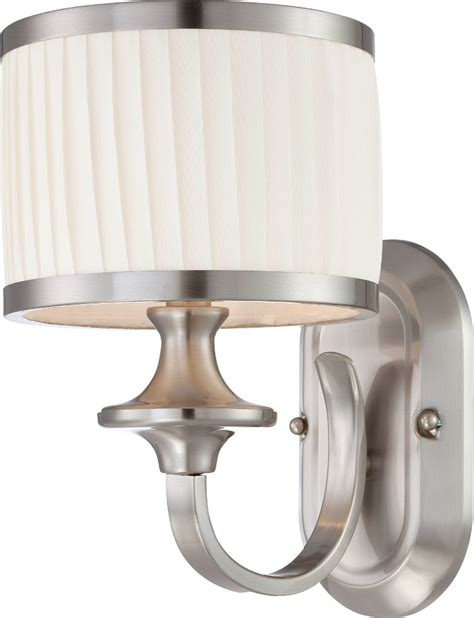 candice brushed nickel drum shade sconce light 7 quot wx11 quot h