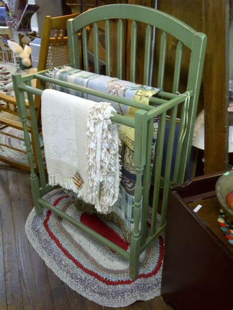 Baby Quilt Rack by Use Your Baby Crib As A Quilt Rack One S Trash