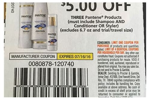 printable coupons for pantene products