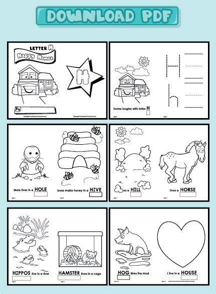 printable alphabet booklets kindergarten words with letter v