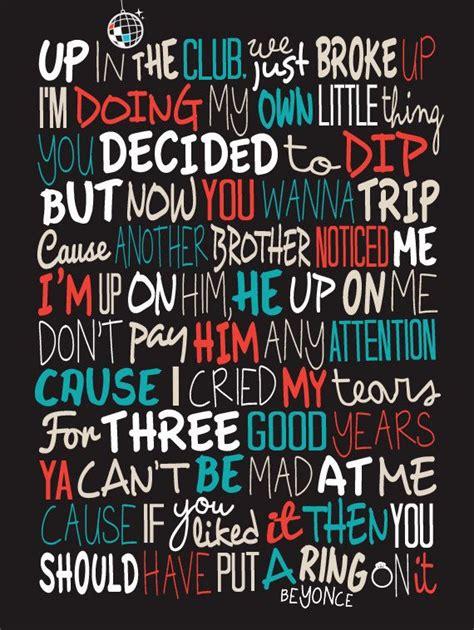 printable lyrics to all the single ladies beyonce single ladies poster song lyrics print music