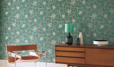 turquoise wallpaper for aspiring interior designers with