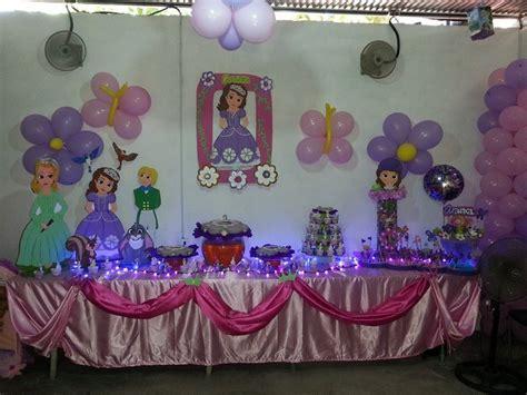 adornos de sofia decoracion princesita sofia fiestaideas com
