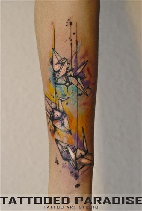 watercolor tattoo origami the world s catalog of ideas
