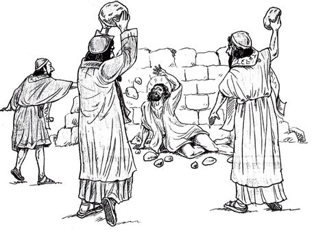 coloring pages bible stephen not in temples made with human hands acts 6 1 8 3 st