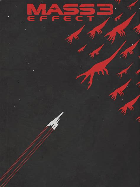 mass effect trilogy minimalist posters featuring ssv