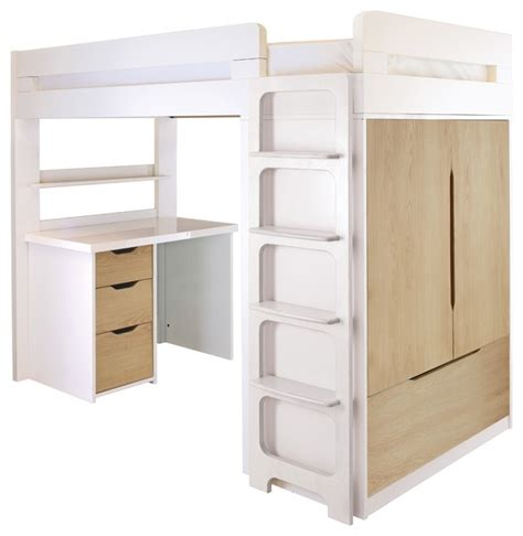 Childrens High Sleeper Beds With Wardrobe by Farringdon High Sleeper With Desk Modern Children S