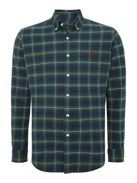 Shirt Tartan polo ralph sleeve custom fit tartan check