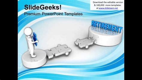 3d Man And Puzzle With Word Retirement Future Powerpoint Templates Ppt Backgrounds For Slides Microsoft Powerpoint Templates Retirement