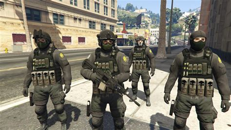 Swat S W A T Black swat ghost team gta5 mods