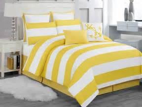 delia stripe 8pc comforter set yellow